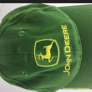 John Deere Men's Green Vintage Buckle Hat